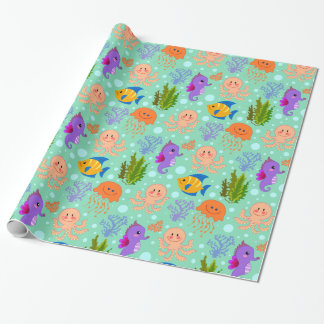 "Under the Sea Glossy Wrapping Paper, 30"" x 6' Wrapping Paper"