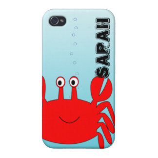 Under the Sea Happy Crab iPhone Cover