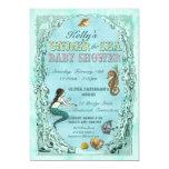 Under the Sea Mermaid Baby Shower Invitation