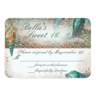 Under the Sea Mermaid Party Response Card