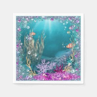 Under the Sea Ocean Napkins Disposable Serviette