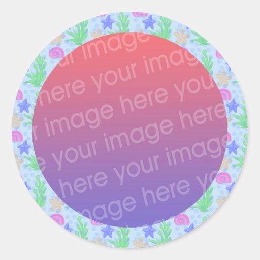 under the sea photo frame sticker