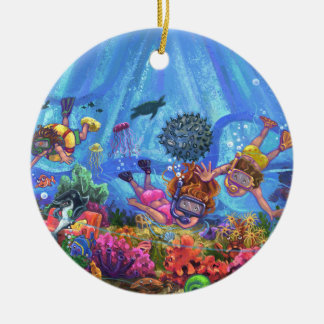 Under the Sea Round Ceramic Decoration