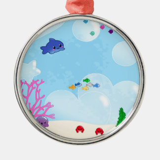 Under the Sea Silver-Colored Round Decoration