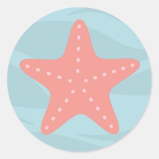 Under the sea star fish sticker