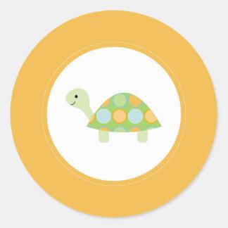 {under the sea} round sticker