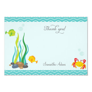 "Under The Sea Thank You Card 3.5"" X 5"" Invitation Card"