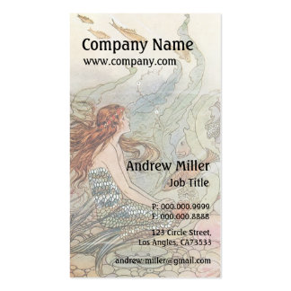 Under the Sea Vintage Mermaid Business Card Templates