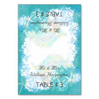 Under the Sea Wedding Tented Place Cards