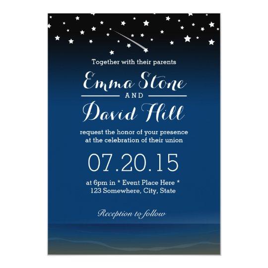 Under the Stars Beach Wedding Card