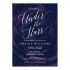 Under the Stars Elegant Sweet 16 Celebration Card