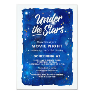 Under the Stars Movie Night Invitation