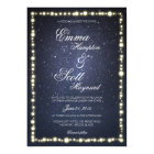 Under the stars string light glow wedding invites