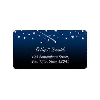 Under the Stars Wedding Return Address Labels