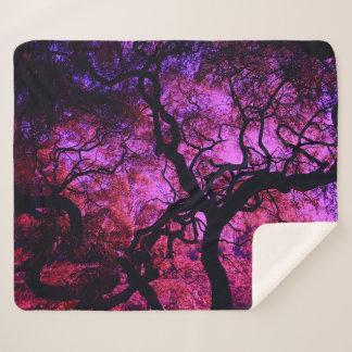 Under The Tree in Pink/Purple Sherpa Blanket