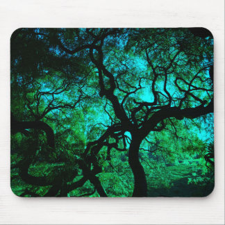 Under The Tree in Turquoise II Mouse Pad