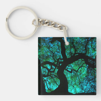 Under The Tree in Turquoise Key Ring