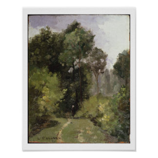 Under the Trees, 1864 (oil on board) Poster