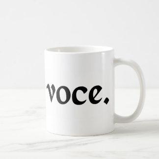 Under the voice. coffee mug