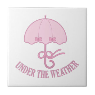 Under The Weather Small Square Tile