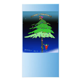 Under the Xmas Tree Personalized Photo Card