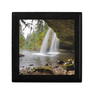 Under Upper Butte Creek Falls in Autumn Gift Box