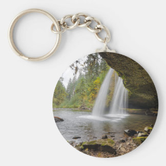 Under Upper Butte Creek Falls in Autumn Key Ring