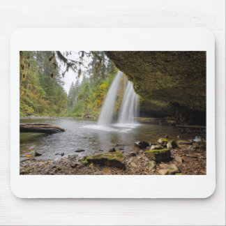 Under Upper Butte Creek Falls in Autumn Mouse Pad