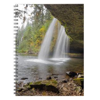Under Upper Butte Creek Falls in Autumn Notebook