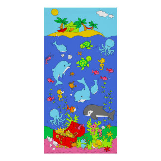 Under water scene poster