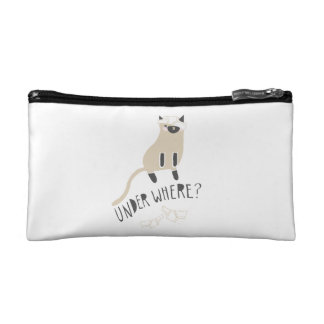 """Under Where?"" Siamese Cosmetic Bag"