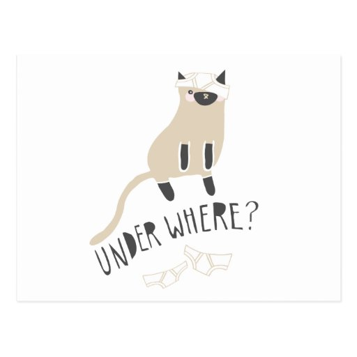 """""""Under Where?"""" Siamese Post Cards"""