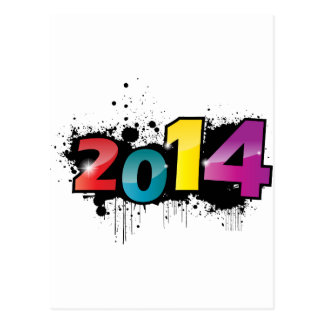 Underground New year design . 2014 Postcard