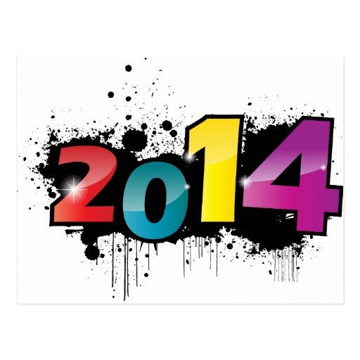 Underground New year design . 2014 Post Cards