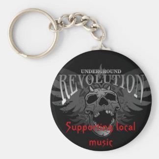 underground revolution basic round button key ring