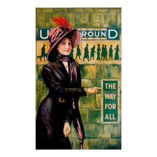 Undergroundthe Way For All Vintage Travel Poster