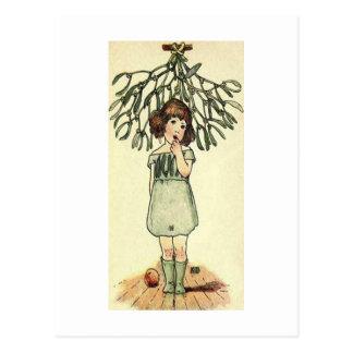 Underneath the Mistletoe Post Card