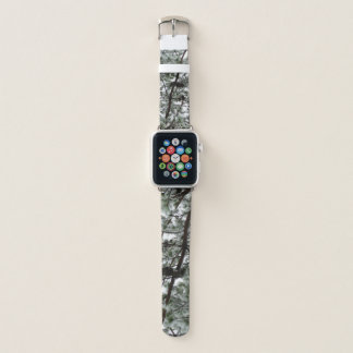 Underneath the Snow Covered Pine Tree Winter Photo Apple Watch Band
