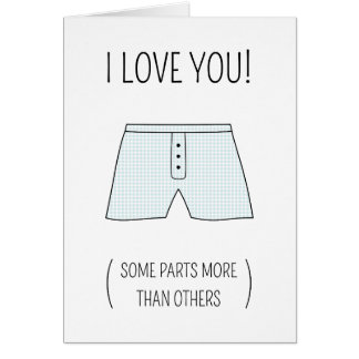 Underpants Valentine's Day card (male edition)