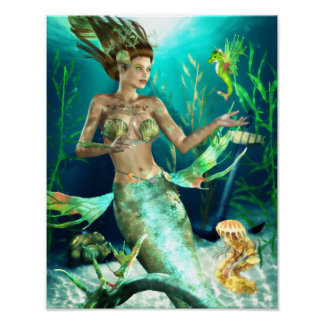 Undersea Companions Canvas/Poster Print