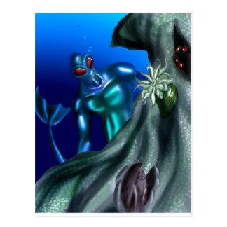 Undersea creature postcard