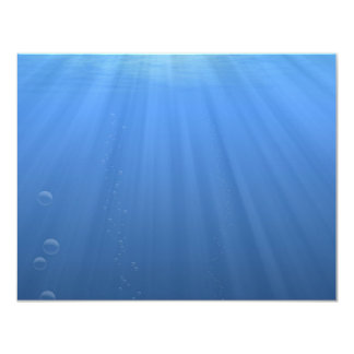 Undersea 11 Cm X 14 Cm Invitation Card