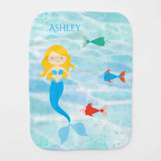 Undersea Mermaid Baby Burp Cloth
