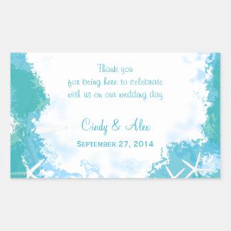 Undersea Stars Large Wedding Favor Labels