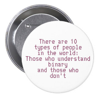 Understand Binary 7.5 Cm Round Badge