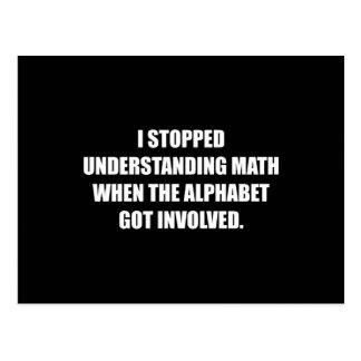 Understand Math Alphabet Postcard