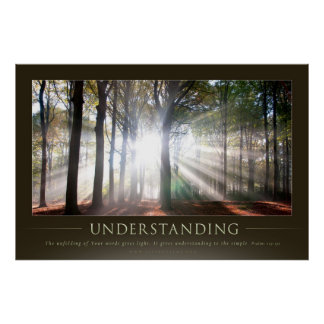 UNDERSTANDING - Christian Motivational Posters