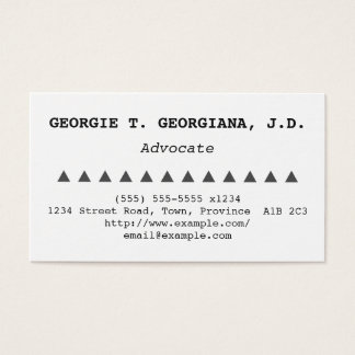 Understated Advocate Business Card