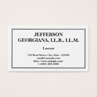Understated Lawyer Business Card