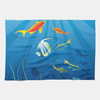 Underwater 3 Kitchen Towels